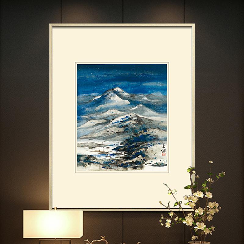 《夜雪山行》